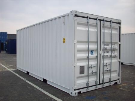 20er gebrauchte Container neuwertig in weiß und grau Container ...