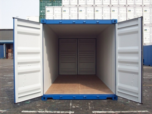 20er double door container in hamburg neuwertig mit t ren an beiden seiten des containers. Black Bedroom Furniture Sets. Home Design Ideas