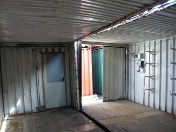 40er container lagercontainer doppelanlage gebraucht. Black Bedroom Furniture Sets. Home Design Ideas